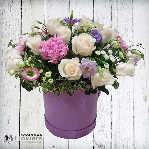 Buchet de flori în cutie de pălării #3