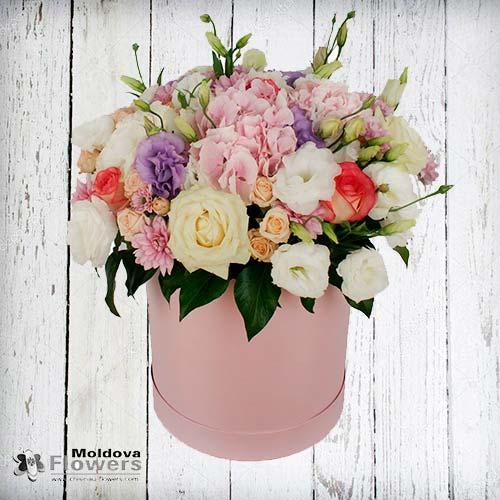 Buchet de flori în cutie de pălării #4