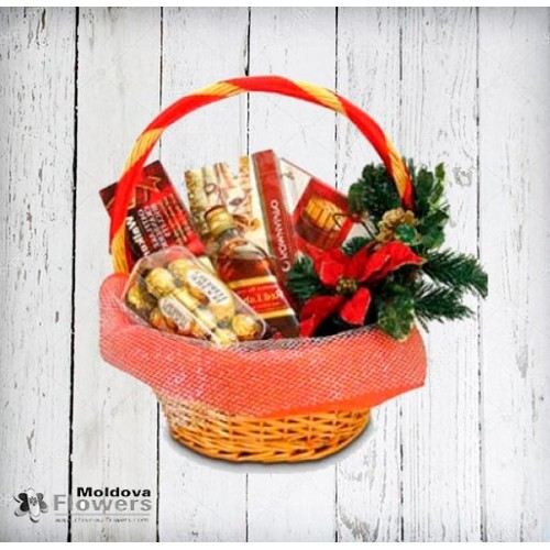 Whiskey gift basket