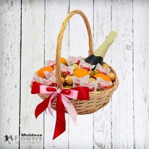 """Coș de cadouri """"Tangerine și ciocolată"""""""